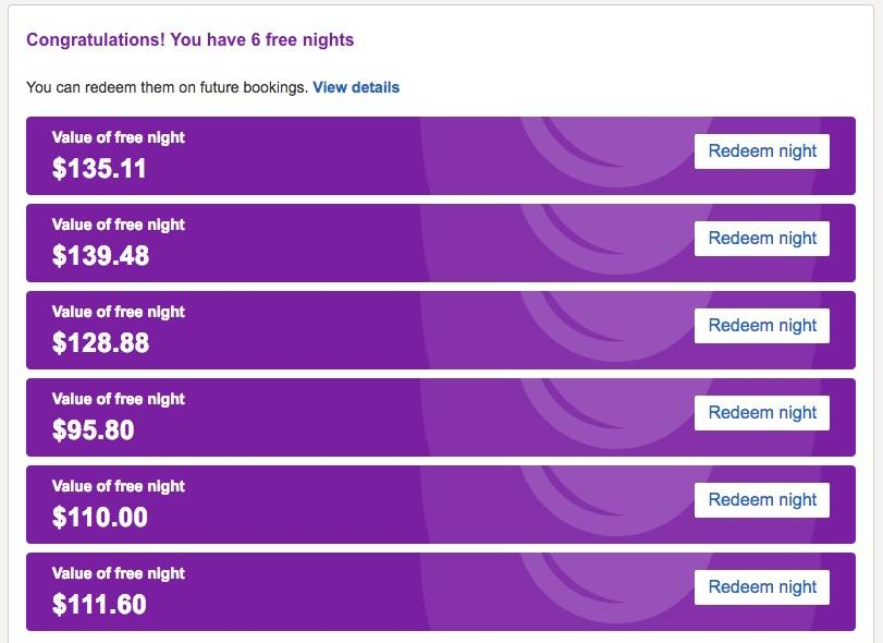 Rack up those free hotels.com nights!